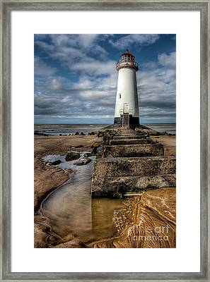 Welsh Lighthouse  Framed Print by Adrian Evans