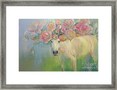 Welsh P-e-ony Framed Print by Kimberly Santini
