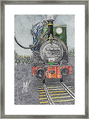 Welsh Puffer Framed Print