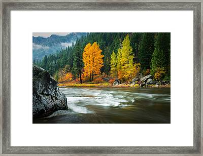 Framed Print featuring the photograph Wenatchee Riverside by Dan Mihai