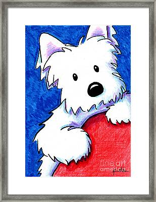 Wendell The Westie Framed Print by Kim Niles