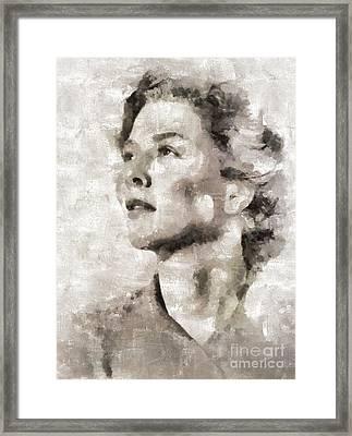 Wendy Hiller, Actress Framed Print by Mary Bassett