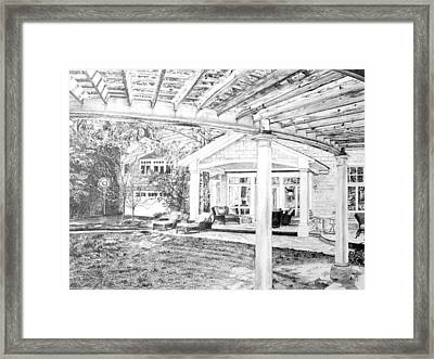 Framed Print featuring the drawing Wendy's House by Jane Autry
