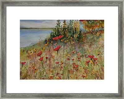 Wendy's Wildflowers Framed Print