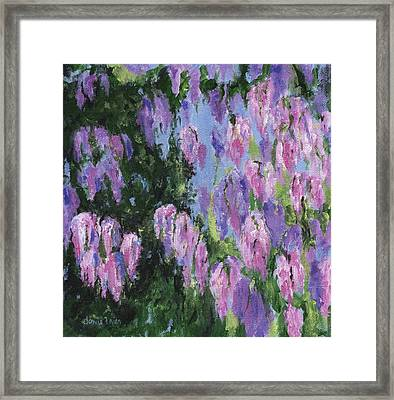 Framed Print featuring the painting Wendy's Wisteria by Jamie Frier