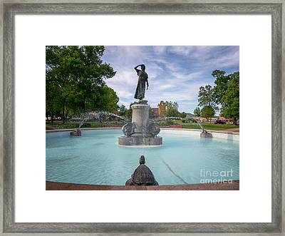 Wenonah Fountain Winona Mn Framed Print