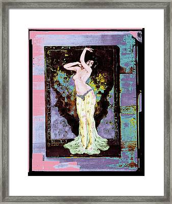 Wenzell Oriental Dancer Framed Print by Robert G Kernodle