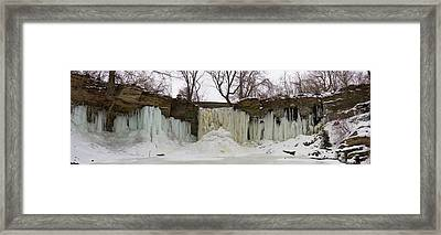 Framed Print featuring the photograph Wequiock Falls by Joel Witmeyer