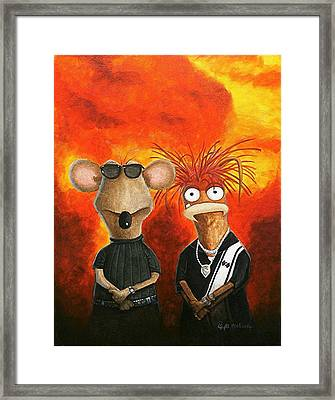 Framed Print featuring the painting We're Bad Boys Okay by Al  Molina