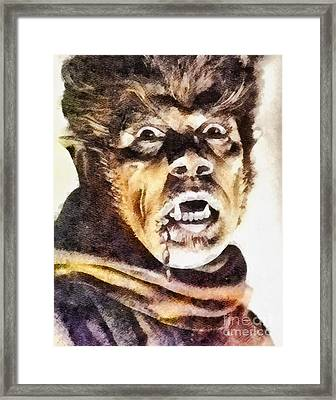 Werewolf Of London 1935, Vintage Horror Framed Print