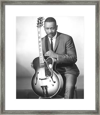 Wes Montgomery, Early 1960s Framed Print by Everett