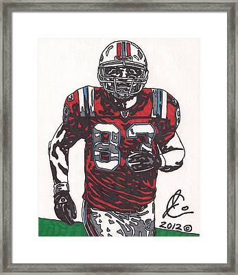 Wes Welker Framed Print by Jeremiah Colley