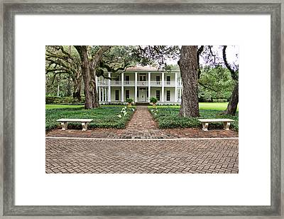 Wesley House Front Framed Print by Sandy Keeton