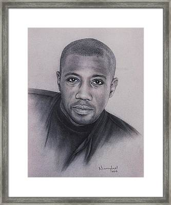 Wesley Snipes Framed Print by Nanybel Salazar