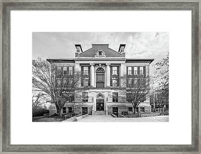 Wesleyan University Allbritton Hall Framed Print by University Icons