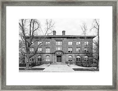 Wesleyan University Fisk Hall Framed Print by University Icons