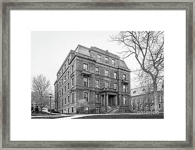 Wesleyan University Judd Hall Framed Print by University Icons