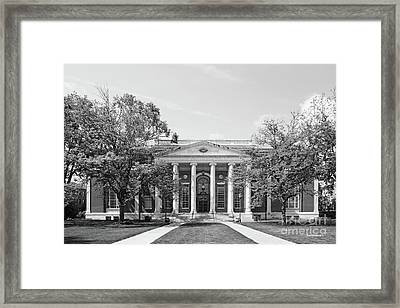 Wesleyan University Olin Library Framed Print by University Icons