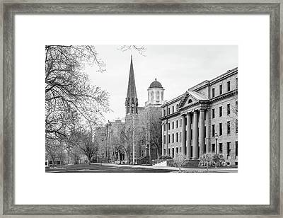 Wesleyan University Framed Print by University Icons
