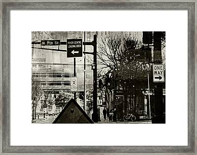 Framed Print featuring the photograph West 7th Street by Susan Stone