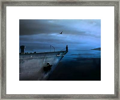 West Across The Ocean Framed Print