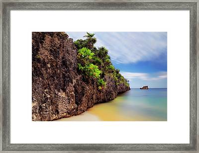 Framed Print featuring the photograph West Bay Beach At Isla Roatan - Caribbean - Honduras - Seascape by Jason Politte