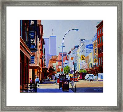 West Broadway Framed Print by John Tartaglione