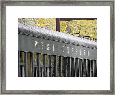 West Chester Railroad - Passenger Car Framed Print