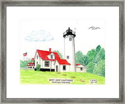 West Chop Lighthouse Framed Print by Frederic Kohli