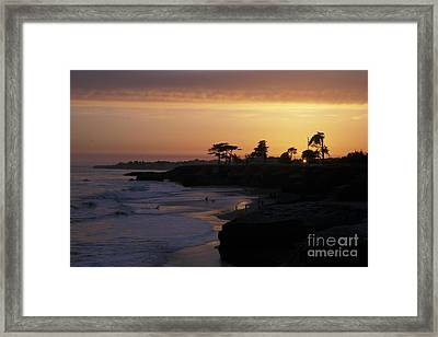 West Cliff At Sunset Framed Print by Stan and Anne Foster