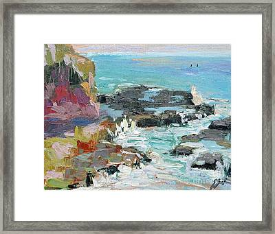 West Cliff Heat Framed Print
