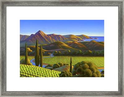 West Coast Dreaming Framed Print by Robin Moline