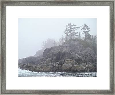 West Coast Landscape Ocean Fog I Framed Print