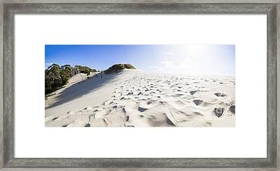 West Coast Tasmania Desert Panorama Framed Print