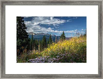West Elk Mountain Range Framed Print