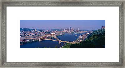 West End Bridge At The Three Rivers Framed Print by Panoramic Images