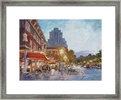 West End Evening - St.louis Framed Print