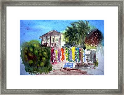 Framed Print featuring the painting West End Market by Donna Walsh