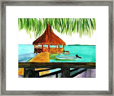 West End Roatan Framed Print