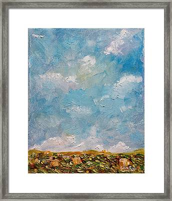 Framed Print featuring the painting West Field Seedlings by Judith Rhue
