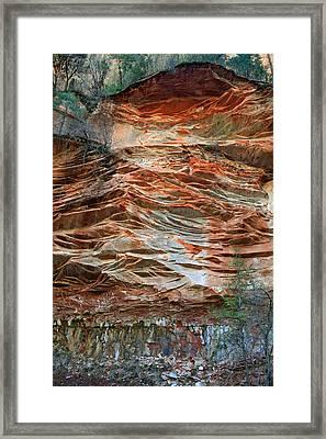 West Fork Trail Rocks 1 Framed Print by Ellen Henneke