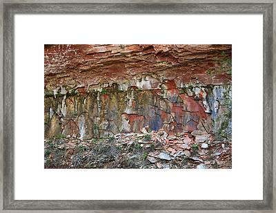 West Fork Trail Rocks 2 Framed Print by Ellen Henneke