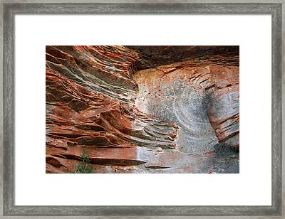 West Fork Trail Rocks 3 Framed Print by Ellen Henneke