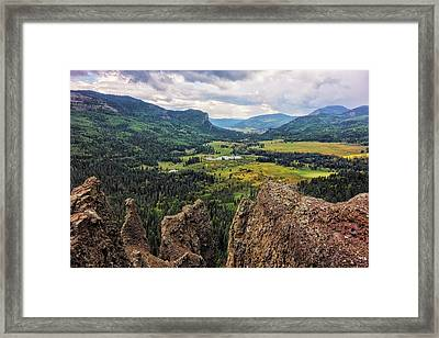 West Fork Valley View Framed Print by Loree Johnson