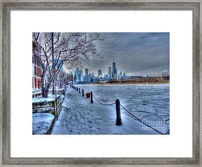 West From Navy Pier Framed Print by David Bearden