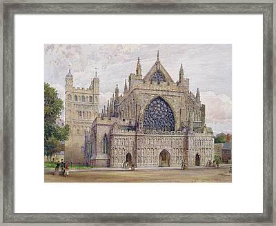 West Front, Exeter Cathedral Framed Print