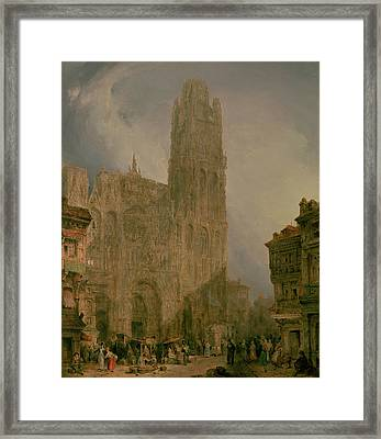 West Front Of Notre Dame Framed Print by David Roberts