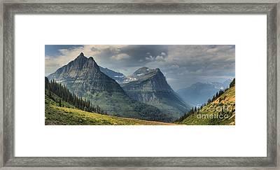 West Glacier Mountains Framed Print