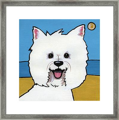 West Highland Terrier Framed Print by Leanne Wilkes