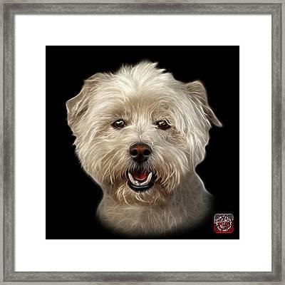 West Highland Terrier Mix - 8674 - Bb Framed Print